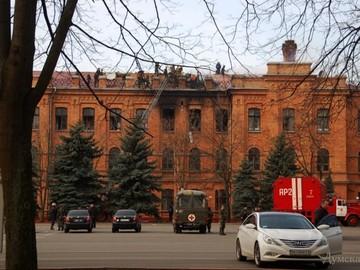 В Одесской Военной Академии пожар уничтожил 250 кв. метров
