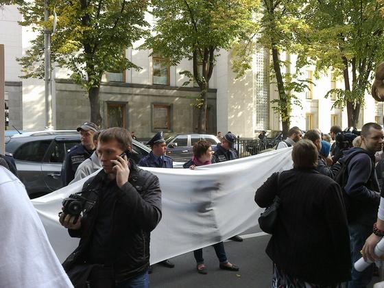 Акция протеста против закона о клевете. Фото @mediabusiness