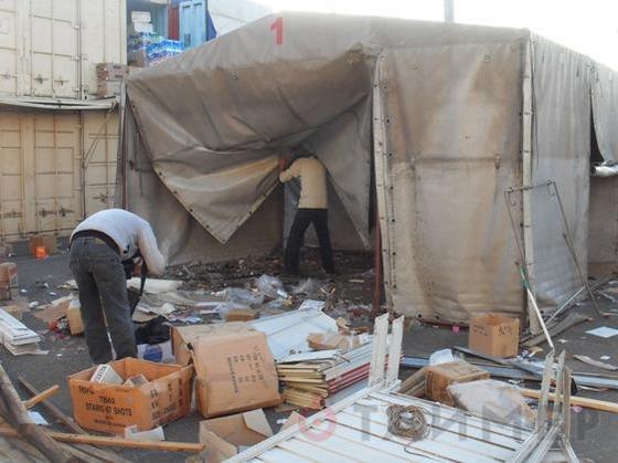 Снос палаток на рынке Седьмой Километр. Фото @Таймер