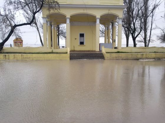 Наводнение в Лузановке из-за урагана
