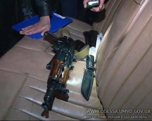 Оружие, найденное у стрелков