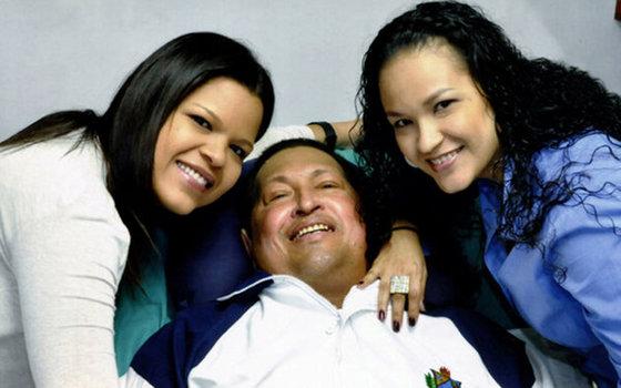 Фото Уго Чавеса после операции 15 февраля 2013 года