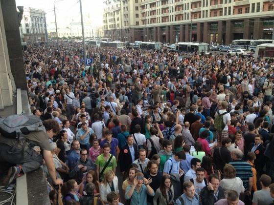 Митинг на Манежной площади в Поддержку Навального @zyalt