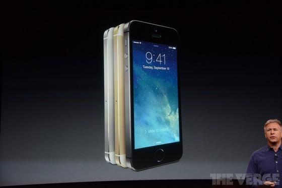 Iphone 5s и Iphone 5с фото @theverge