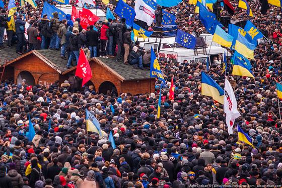 На Украине прошел Евромайдан, который состоялся вчера в Киеве