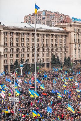 На майдане насчитали от 500 тыс. участников до 1 млн.