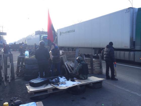 Блокпост у въезда в Киев