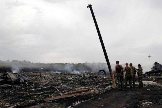 Обломки сбитого на Украине самолета