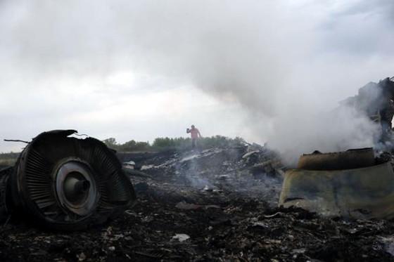 Обломки сбитого самолета